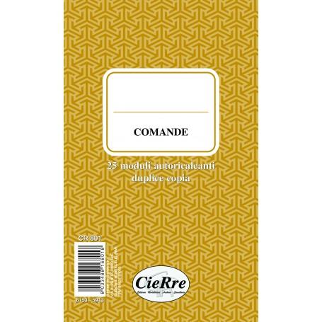 BLOCCO COMANDE 10X17 2 COPIE AUTORICALCANTI