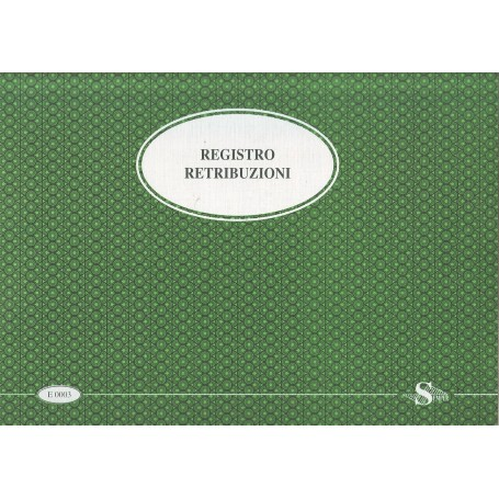 REGISTRO RETRIBUZIONI 31X40