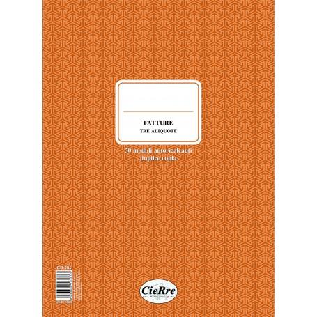FATTURE 30X23 2 COPIE 3 ALIQUOTE AUTORICALCANTI