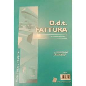 DOCUMENTO DI TRASPORTO E FATTURE 22X30 3 COPIE AUTORICALCANTI