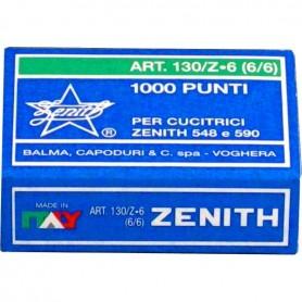 PUNTI METALLICI ZENITH 130/Z  6/6 1000PZ