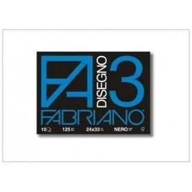 ALBUM FABRIANO F3 10 FF. 24X33 NERO