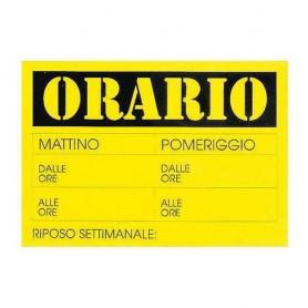 CARTELLO 23X32 ORARIO