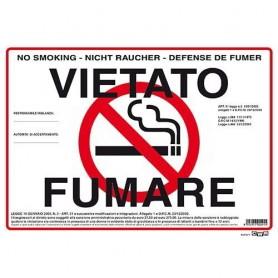 CARTELLO 12X17 VIETATO FUMARE