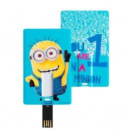 PEN DRIVE CARD 8 GB MINION CELESTE