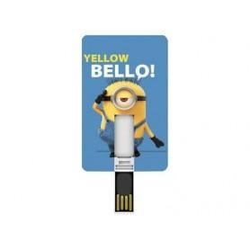 PEN DRIVE CARD 8 GB MINION AZZURRO