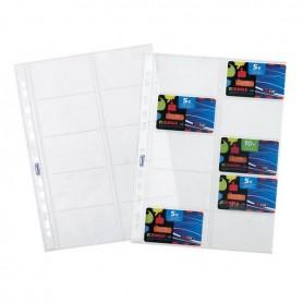 BUSTA PORTA CARDS 10 TASCHE 8,5X5,4