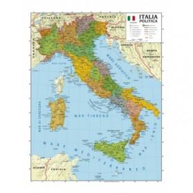 CARTA GEOGRAFICA 100X140 ITALIA