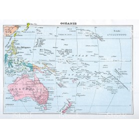 CARTA GEOGRAFICA 30X42 AUSTRALIA OCEAN