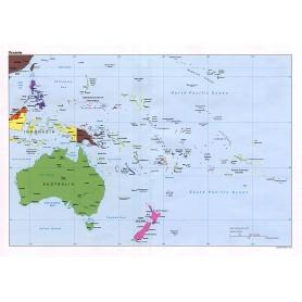 CARTA GEOGRAFICA 24X32 AUSTRALIA OCEAN