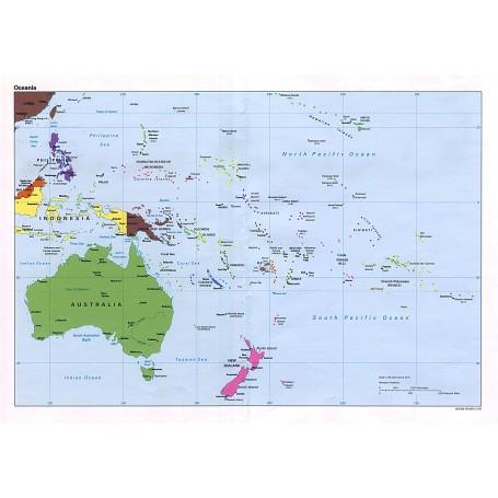 Australia Cartina Geografica.Carta Geografica 24x32 Australia Ocean