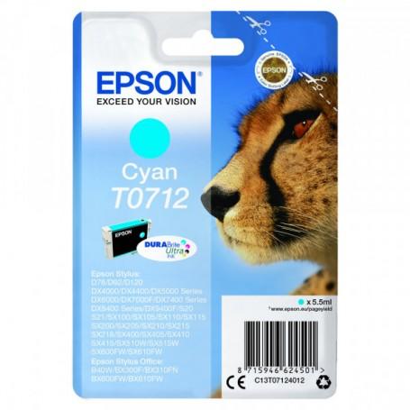 CARTUCCIA ORIGINALE EPSON T0712 CIANO