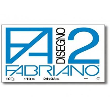 ALBUM FABRIANO F2 10 FF. 24X33 LISCIO