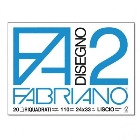 BLOCCO FABRIANO F2 20 FF. 24X33 RIQUAD.