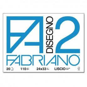 BLOCCO FABRIANO F2 20 FF. 24X33 LISCIO
