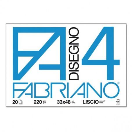 BLOCCO FABRIANO F4 20 FF. 33X48 LISCIO