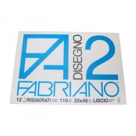 BLOCCO FABRIANO F2 12 FF. 33X48 RIQUAD.