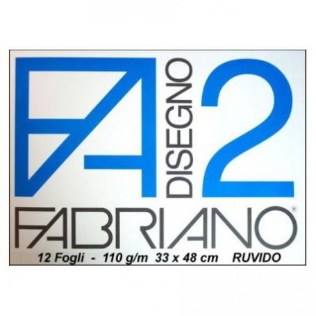 BLOCCO FABRIANO F2 12 FF. 33X48 RUVIDO