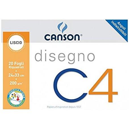 BLOCCO CANSON C4 20 FF. 24X33 RIQUAD.