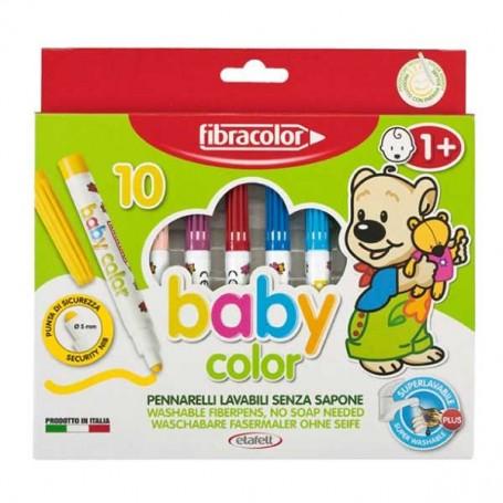 PENNARELLI FIBRA BABY COLOR CONF.10 PZ