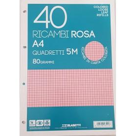 RICAMBI A4 RIGO 5 MM ROSA