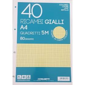 RICAMBI A4 RIGO 5 MM GIALLI