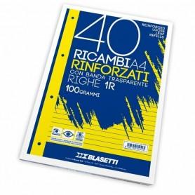 RICAMBI A4 1 RIGO BIANCHI RINFORZATI BLASETTI