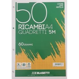 RICAMBI A4 RIGO 5 MM BIANCHI 60 GR