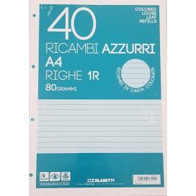 RICAMBI A4 1 RIGO AZZURRI