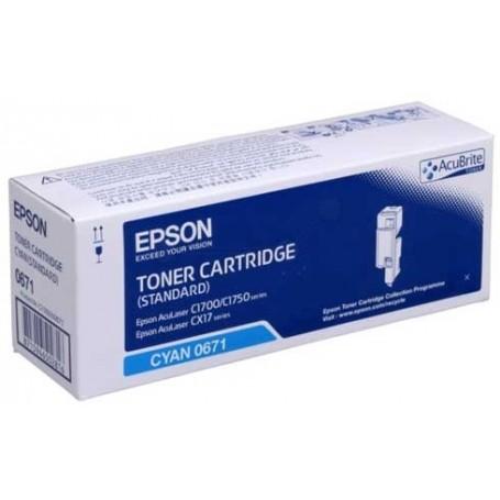 TONER ORIGINALE EPSON C13S050671 CIANO